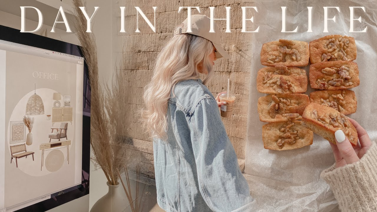 DAY IN THE LIFE   rainy days, interior mood boards, b&m trips/haul, baking + grief struggles