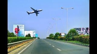 Driving in Bangalore (Kempegowda International Airport Road) - Karnataka, India
