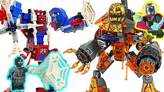 Lego Spider-Man Far From Home! Defeat Molten Man, Mysterio! #DuDuPopTOY