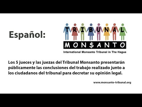 Monsanto tribunal Spanish Audio channel