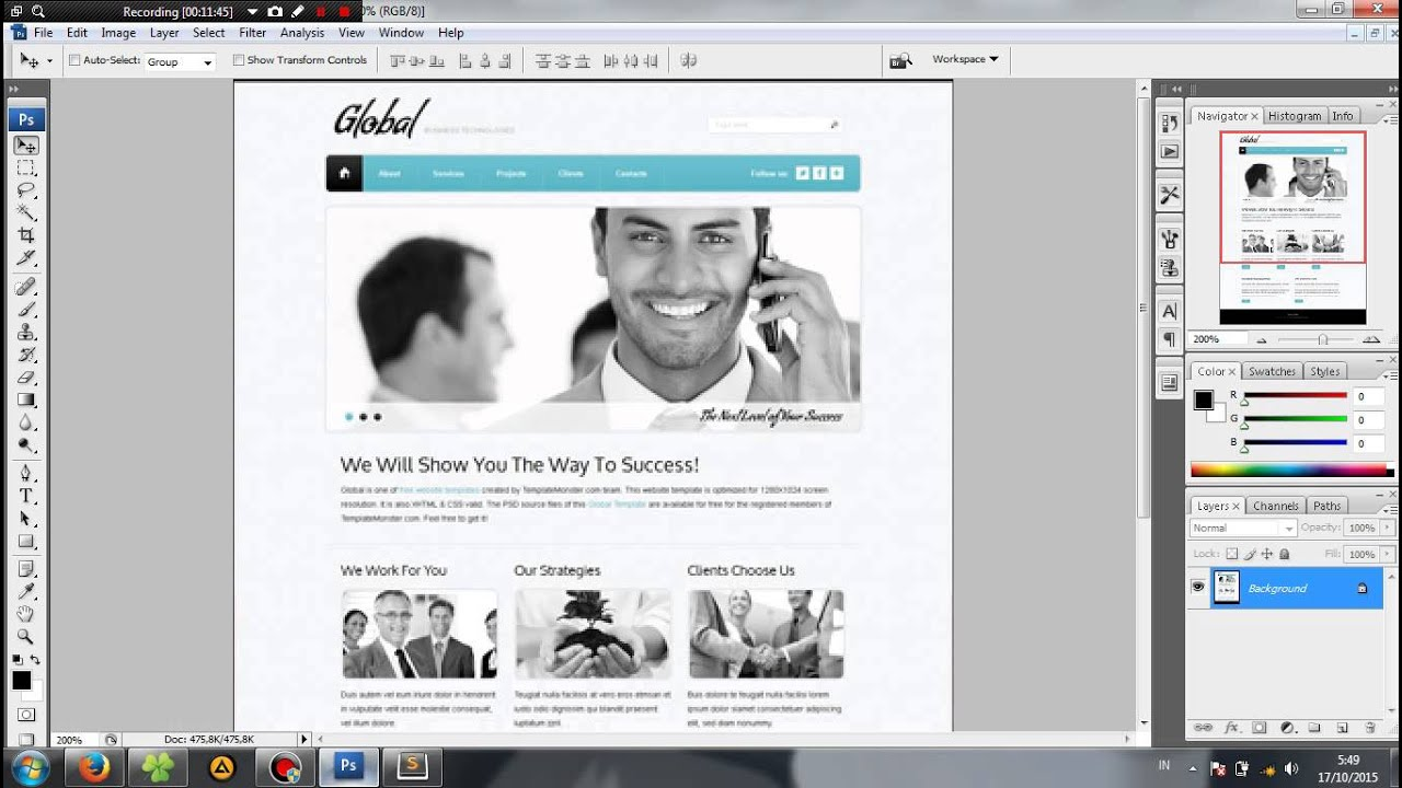 Tutorials Website Template HTML+CSS - YouTube