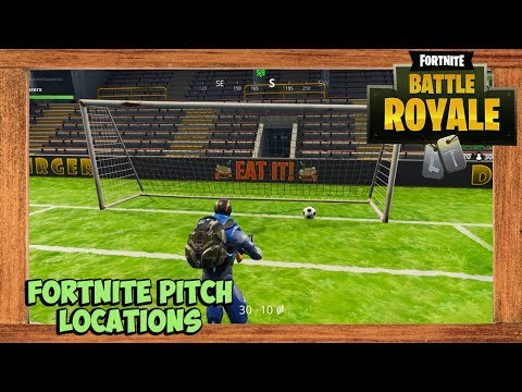 Fortnite All Soccer Pitch Locations Season 4 Week 7 Challenge (Score 5 Goals In Different Pitches)