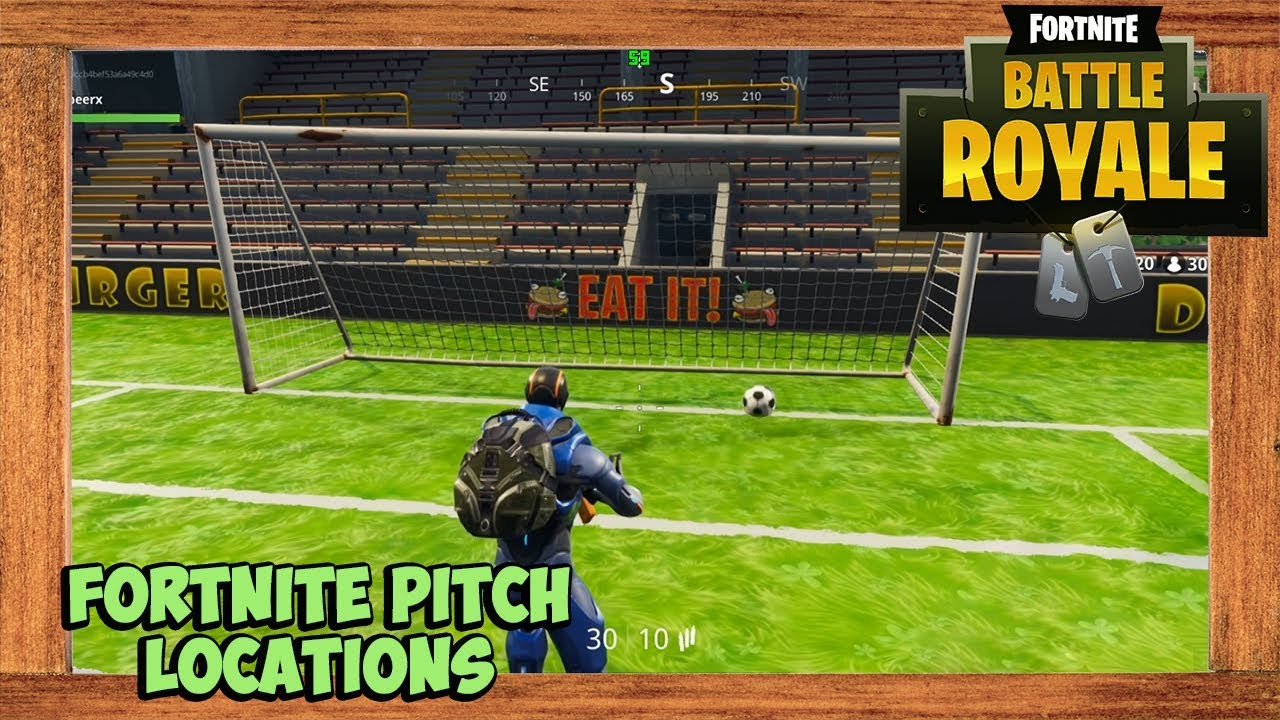 Fortnite All Soccer Pitch Locations Season 4 Week 7 Challenge Score 5 Goals In Different Pitches