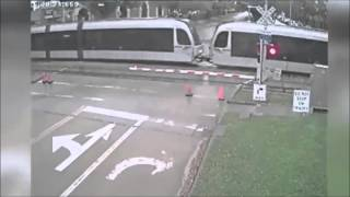 Metro Train Crashes Into Red Light Runner Thumbnail