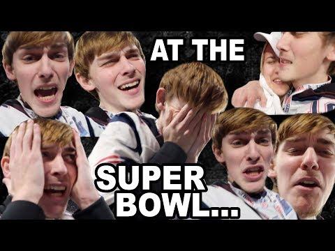 Logan's emotionaI breakdown.. at the SUPER BOWL!