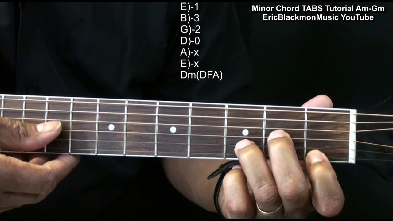 Minor Guitar Chords Am Through Gm Variations With Tabs Eemusiclive