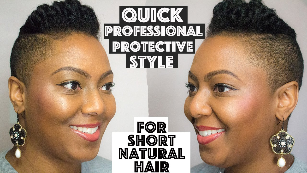 No Weave Protective Style For Short Or Tapered Natural Hair Youtube