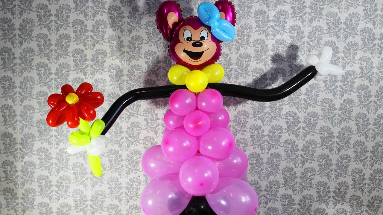 Минни Маус из воздушных шаров Minnie Mouse from balloons