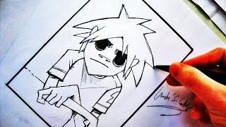 Como Desenhar o 2D [Gorillaz] - (How to Draw 2D /Gorillaz Vocals) - SLAY DESENHOS #73
