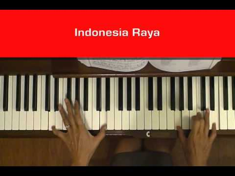 Indonesia Raya Anthem Piano Cover with Tutorial