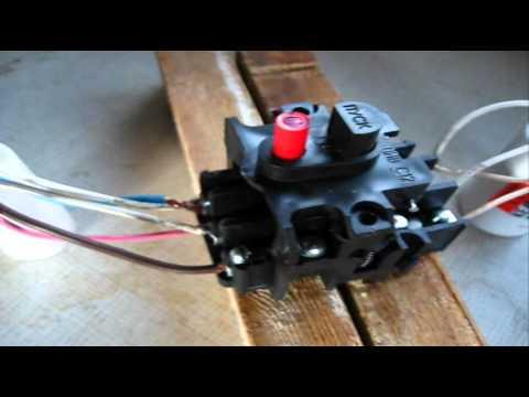 Как подключить кнопку пуска трехфазного двигателя