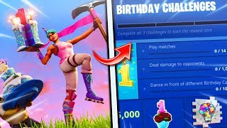 "*NEW* HOW TO GET ""FREE BIRTHDAY SKIN + BIRTHDAY CAKE BACKBLING!"" (FREE FORTNITE BIRTHDAY COSMETICS)!"