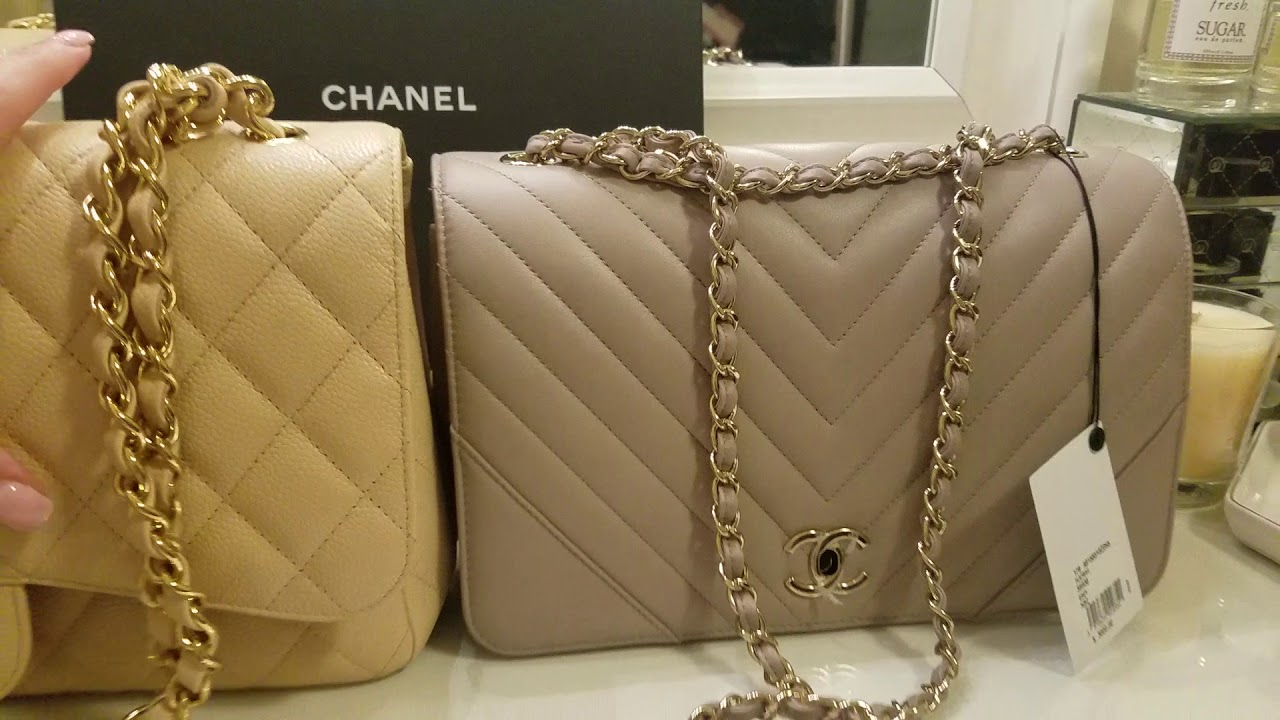 e147fd13b6b3 Chanel Chevron Statement vs Chanel jumbo thoughts........... - YouTube