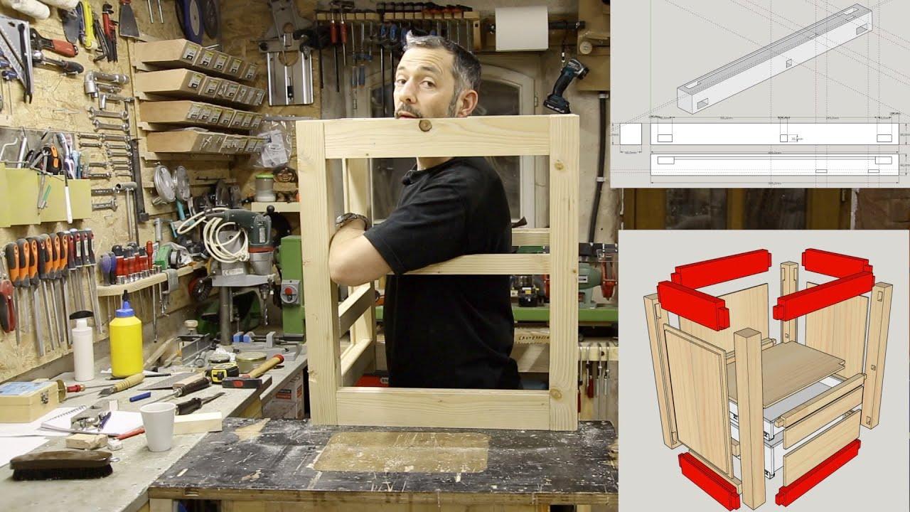 Technique de menuiserie : réaliser une ossature de meuble à tenon, mortaises, et panneaux embrevés
