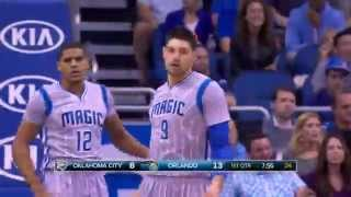 Nikola Vucevic Hits All Nine Shots in the First Half