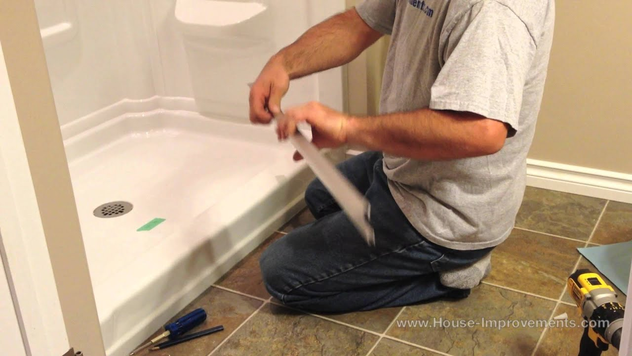 How To Install Glass Sliding Shower Doors - YouTube