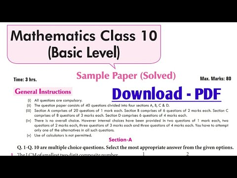 Class 10 maths Basic Blueprint Education sample paper solutions with pdf ????