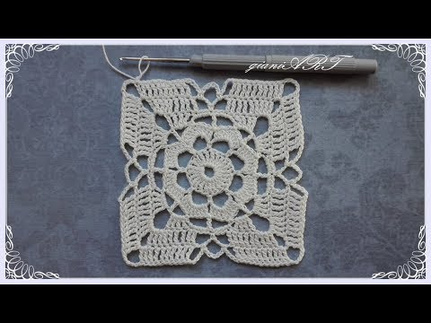 Crochet Lace Square Motif For Tablecloth Step By Step Part 1 Youtube