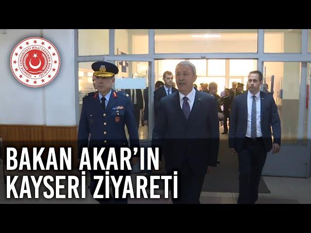 Bakan Akar, Kayseri'deki  2'nci Hava Bakım Fabrika Müdürlüğünde Çalışan İşçilerle Buluştu