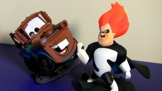 Disney Infinity Toys Collection Pixar Cars 2, The Incredibles Monsters University Lightning McQueen