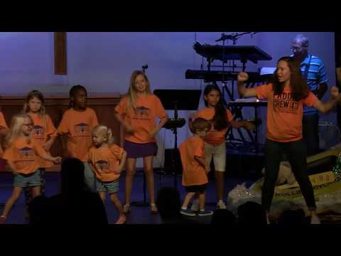 First Pres VBS Singing in Worship