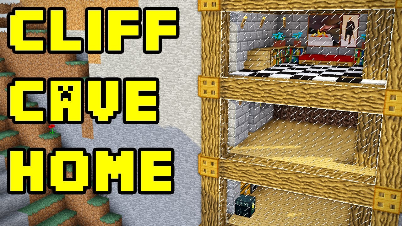 minecraft simple cliff cave house build tutorial youtube. Black Bedroom Furniture Sets. Home Design Ideas