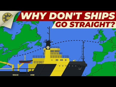 Why don't ships go straight? | Great Circles