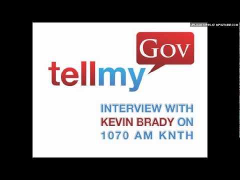 Kevin Brady Interview Sponsored by TellMyGov.com
