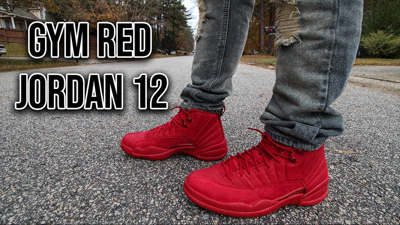 f95af5ca872a2 Air Jordan 12 Gym Red Review And On Foot - YouTube