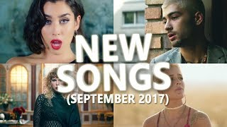 New Songs September 2017 (USA, United Kingdom, Australia)