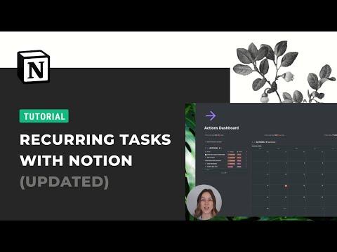 Recurring Tasks in Notion: Updated