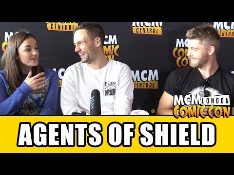 Agents of SHIELD   Elizabeth Henstridge, Nick Blood & Luke Mitchell