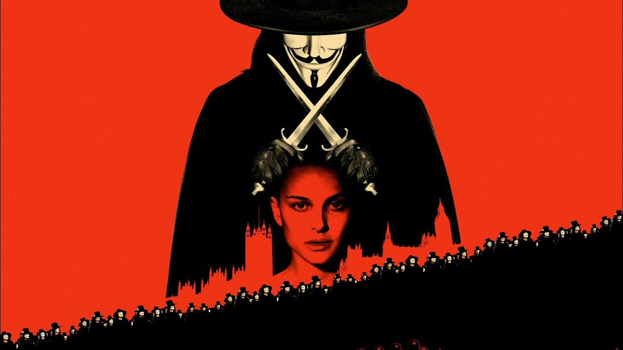 how is v a hero in v for vendetta V for vendetta is a compelling movie which is based in a totalitarian era britain in which the people are oppressed, somewhat like what the soviet union might look like back in the 1900's v for vendetta is based in the not so distant future where famine and disease is scattered across the land.