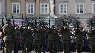 Salwa honorowa na 100 lat niepodległości w Lublinie