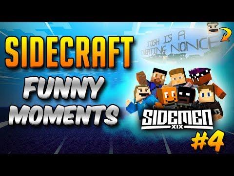 SIDECRAFT Funny Moments Compilation #4 (SIDEMEN Minecraft)