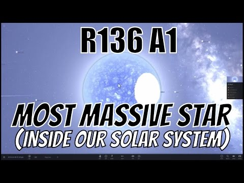 What If The Most Massive Star R136a1 Was In Our Solar System