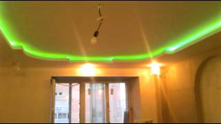 Потолок из Гипсокартона со светодиодной подсветкой(Примеры работ по этой ссылке http://vk.com/club34435378., 2016-03-09T19:40:17.000Z)