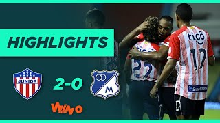 Junior vs. Millonarios  (Goles y Highlights) Liga BetPlay Dimayor 2021-1   Fecha 9