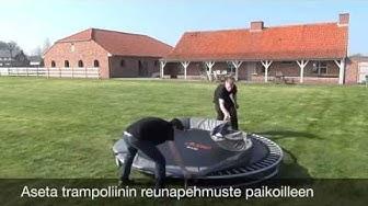 Trampoliinit: Katso ohjevideo miten asennat maatrampoliinin