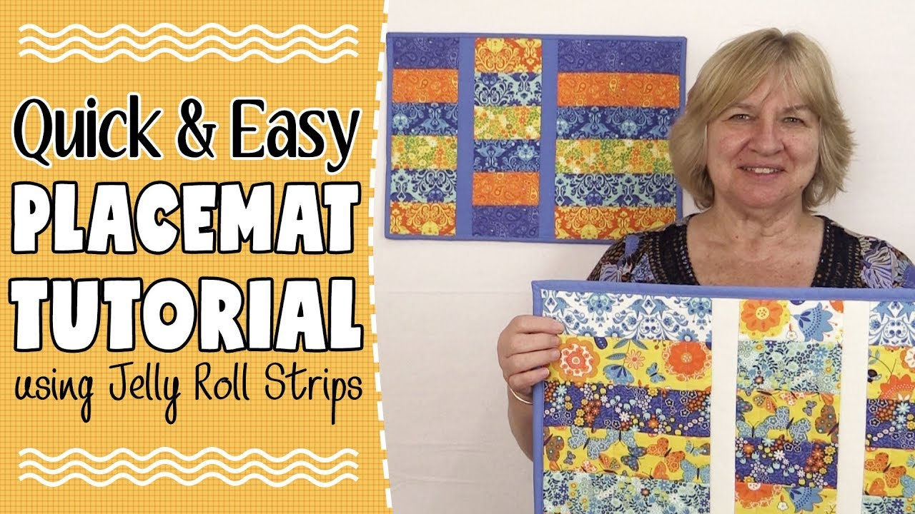 Quick Amp Easy Strip Placemat Tutorial Using Jelly Roll