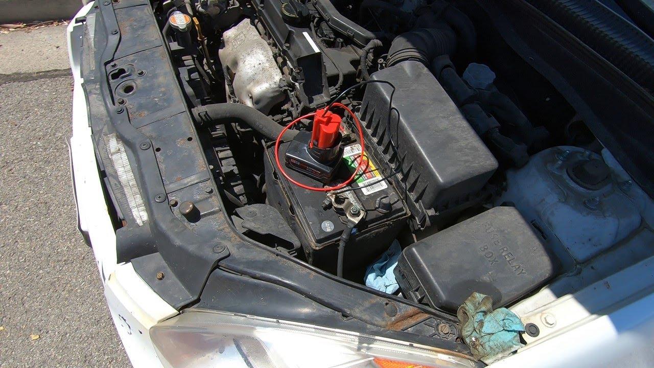 Milwaukee vs. Car , Can a drill battery jump start a car?
