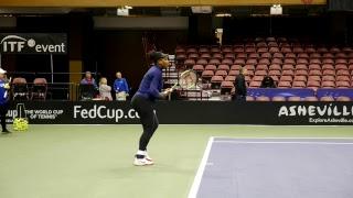 Fed Cup R1 2018: Team USA Tennis Stars Venus & Serena Williams Practice Session