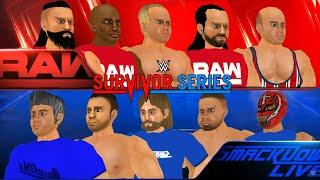 Team RAW vs Team SmackDown Live- WWE Survivor Series 2018, WR3D