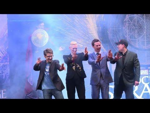 Benedict Cumberbatch in HK to promote new film 'Dr. Strange'