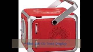 ►►► Best Jensen CD-555 Red Limited Edtion Portable Bluetooth