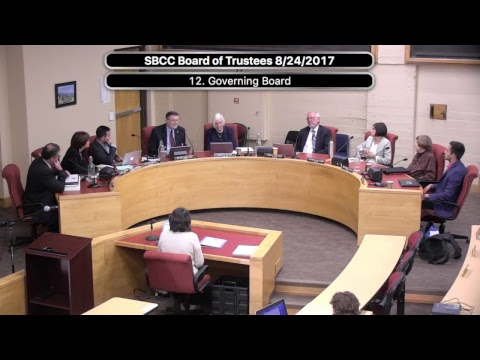 SBCC Board of Trustees 8/24/2017