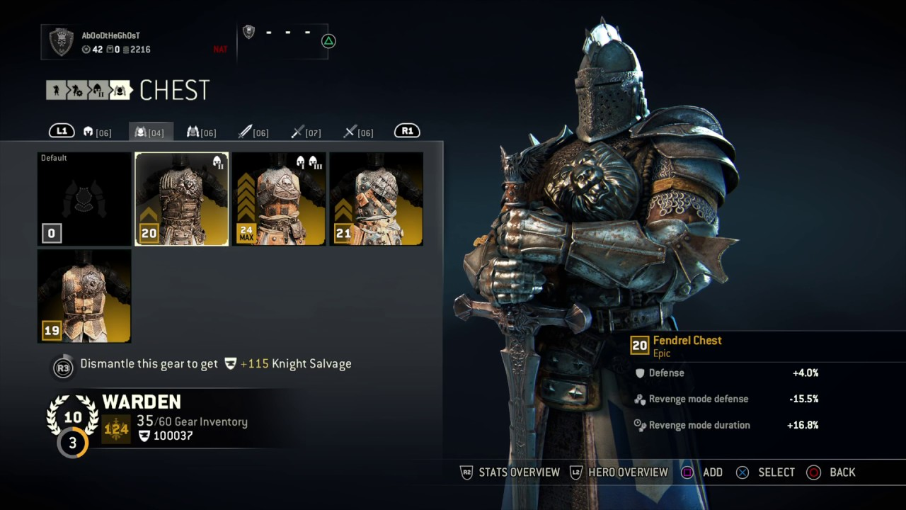 For Honor : Reputation 10 Warden Fashion ( Black iron - Gold - Silver )