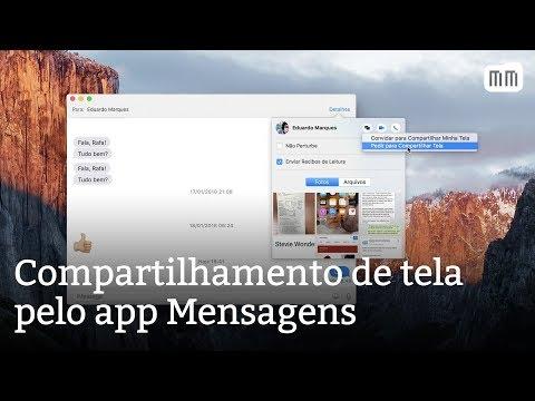 Compartilhamento de tela do Mac pelo app Mensagens