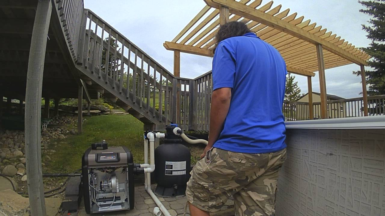 Time lapse of a swimming pool heater installation youtube - Swimming pool heater installation ...