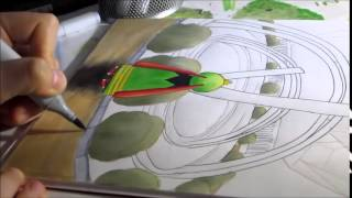 Copic Speed Drawing - Pokémon: Xatu In Anistar City (by Kou)